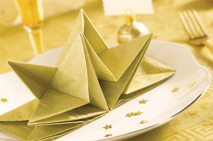 оригами из салфеток