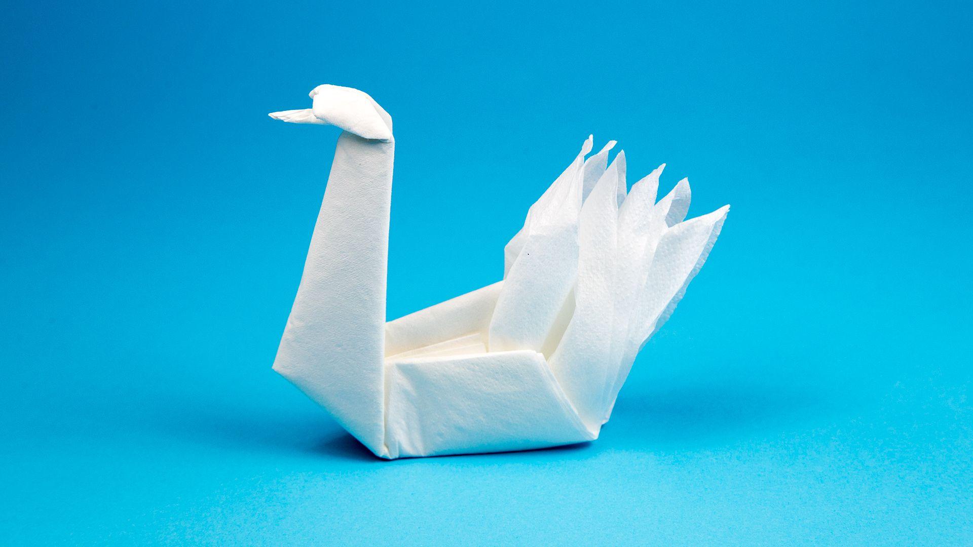 оригами лебеди