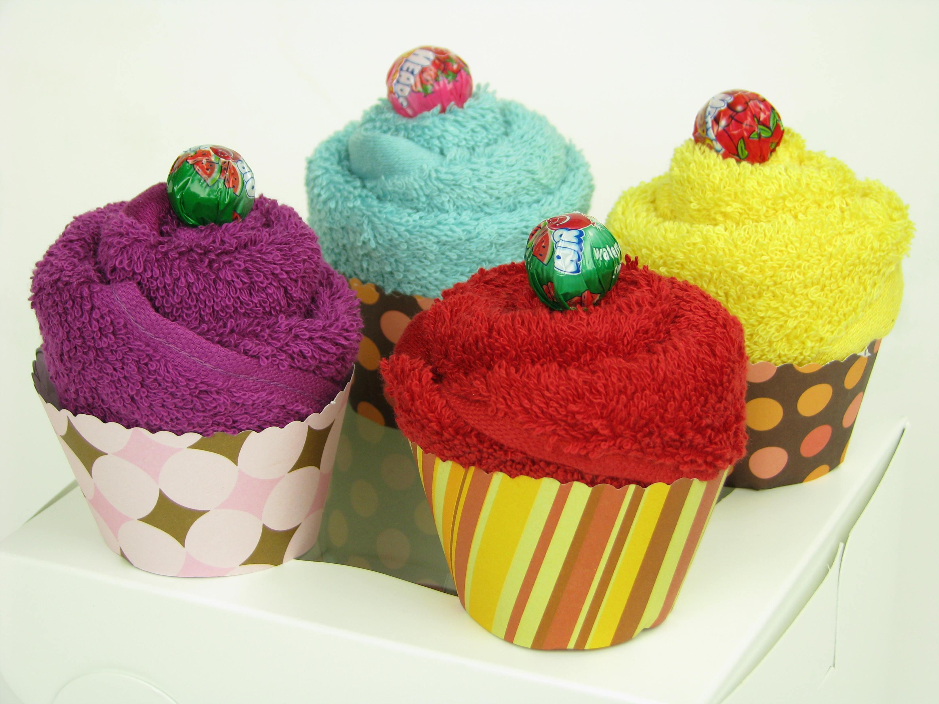 пирожные из полотенец