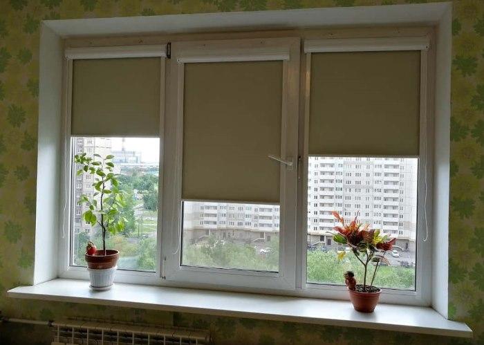 Рулонные шторы из плотного материала