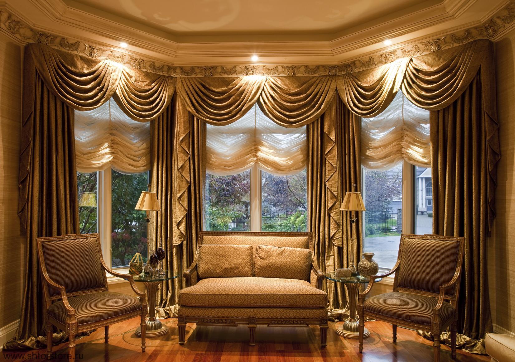 плотные шторы интерьер