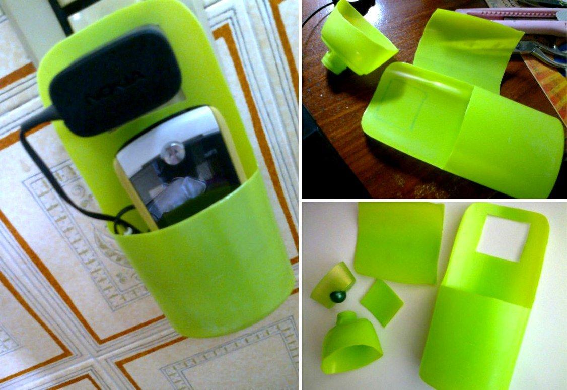 подставка для телефона из бутылки