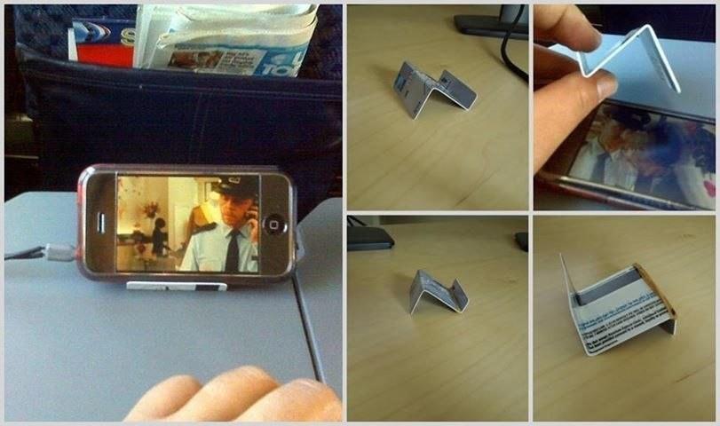 подставка для телефона из кредитной карты