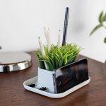 подставка для телефона с травой
