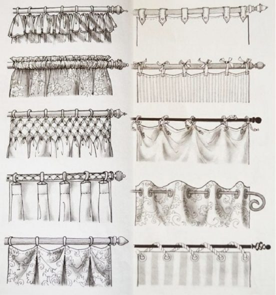 Разнообразия в оформлении штор
