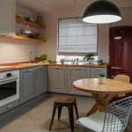 Римская штора в интерьере кухни