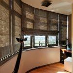 Каркасные римские шторы коричневого окраса