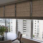 Римские шторы с полотнами из плотной ткани