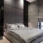 Дизайн спального помещения в серых тонах
