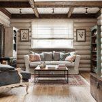 занавески в современном стиле в деревянном доме