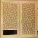 Рулонные шторы с ромашками своими руками