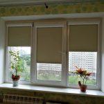 Рулонные шторы уни-2 для тройного окна