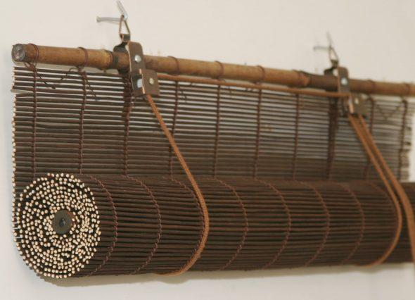 Рулонные жалюзи из тонких бамбуковых палочек