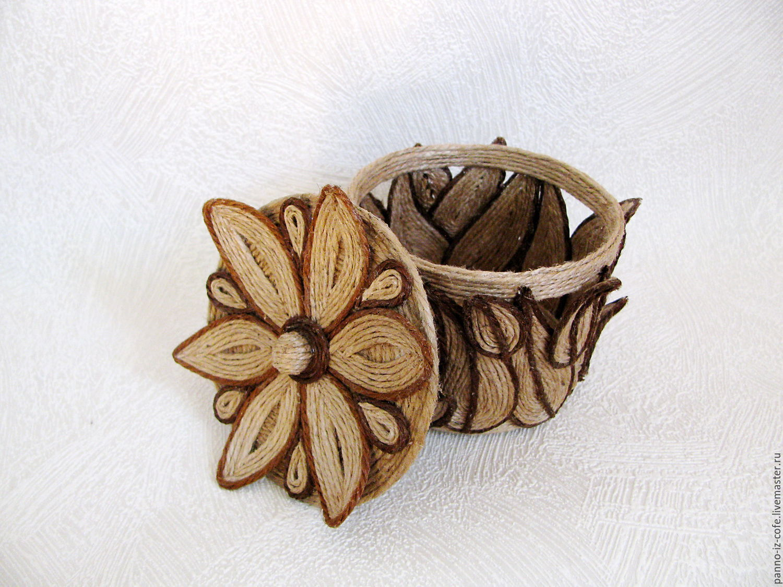 шкатулка из джута своими руками декор идеи