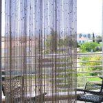 Прозрачная занавеска из джутовой веревки