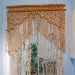 Плетенная занавеска вместо обычной двери