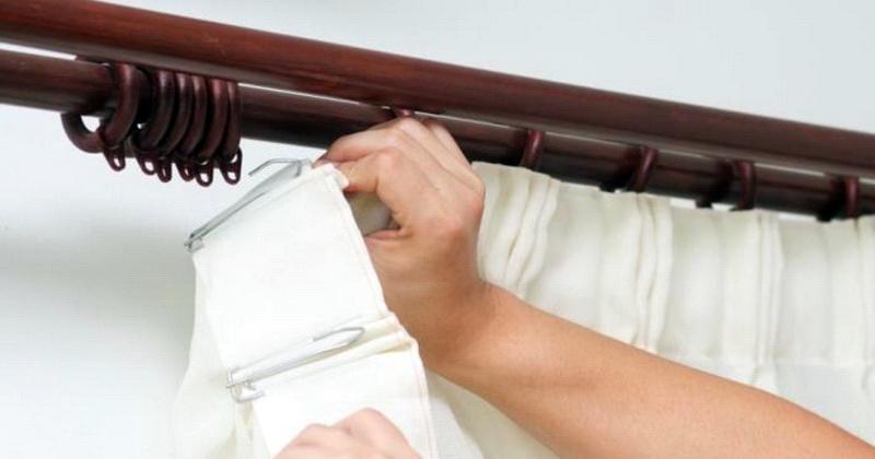 как пришить шторную ленту и подвесить шторы