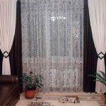 Черно-белые шторы и тюль с рисунком
