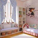 короткие шторы до подоконника в спальню интерьер идеи