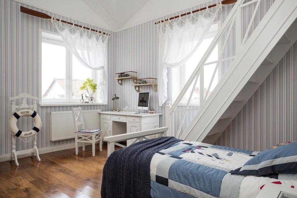 короткие шторы до подоконника в спальню варианты идеи