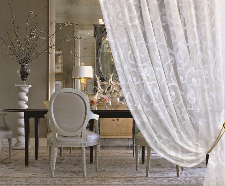 шторы из вуали декор