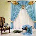 шторы из вуали с пышным ламбрекеном