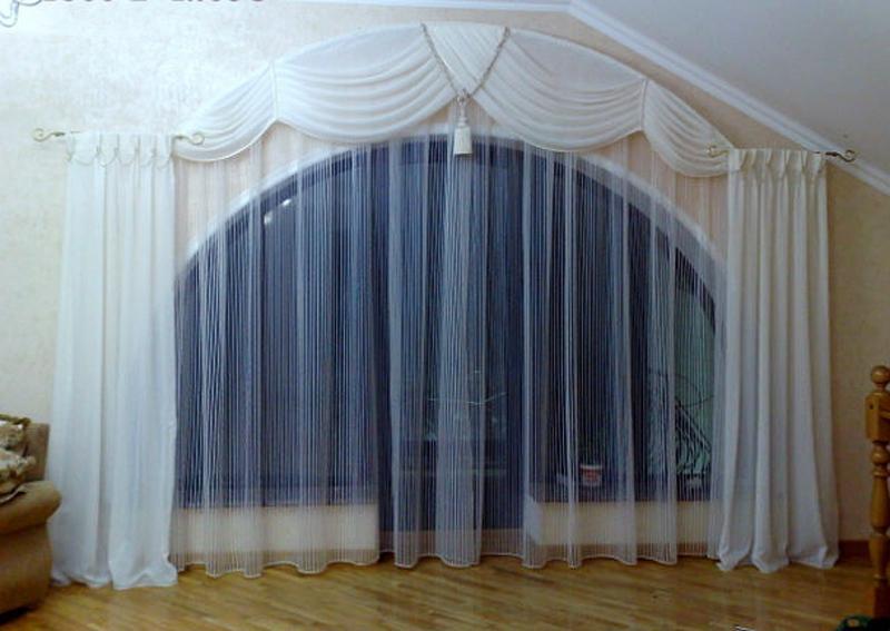 шторы межкомнатные на арку