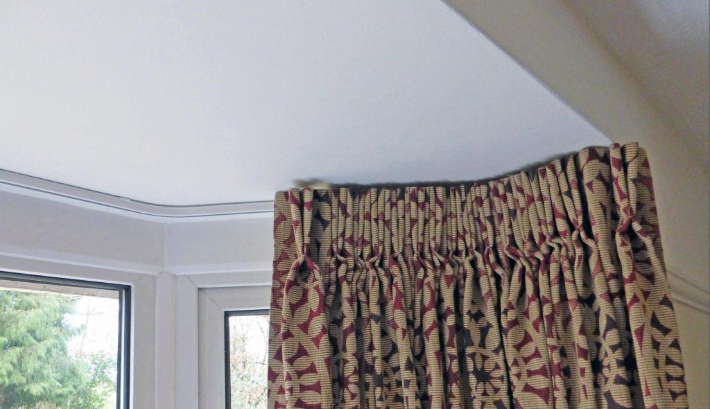 шторы на потолочном карнизе