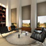 рулонные шторы с электроприводом фото интерьер