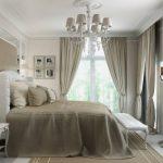 шторы на потолочном карнизе для спальни