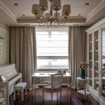 шторы в гостиной интерьер классика