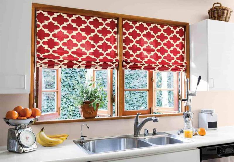 шторы для кухни эклектика