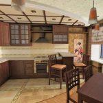 шторы для кухни в стиле в восточном стиле