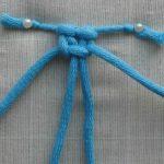 Плетение плоского узла веревочной шторы