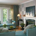 Мягкая мебель с бирюзовой обивкой