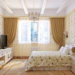 Красивая спальная комната для молодой девушки
