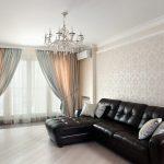 современные шторы в гостиную фото интерьера