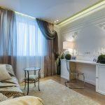 современные шторы в гостиную интерьер