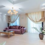 современные шторы в гостиную интерьер фото