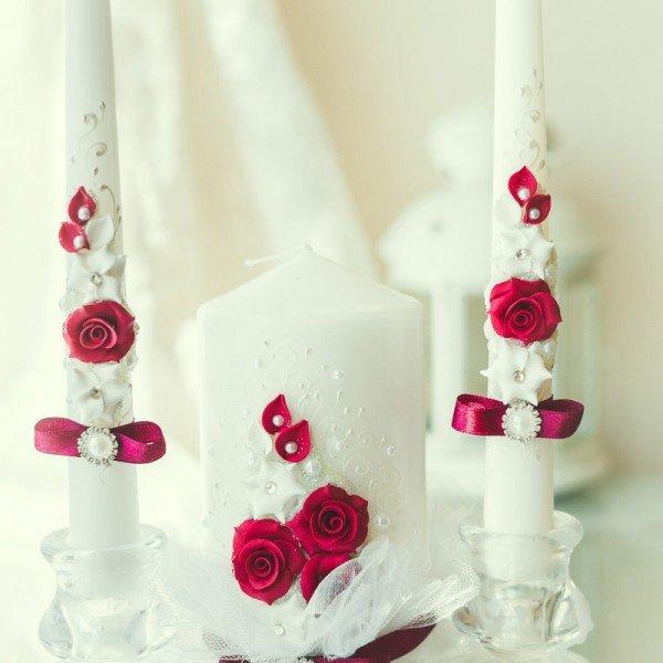 свадебные свечи дизайн фото