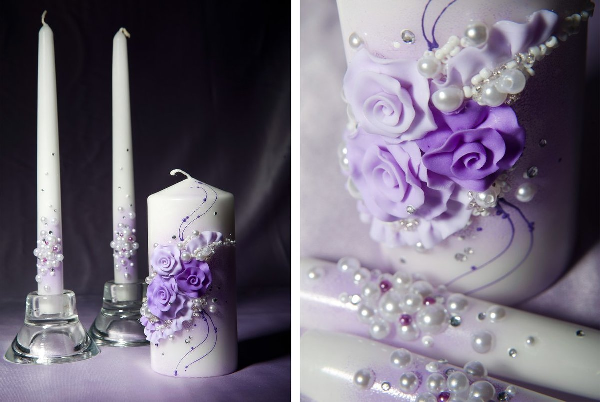 свадебные свечи идеи варианты