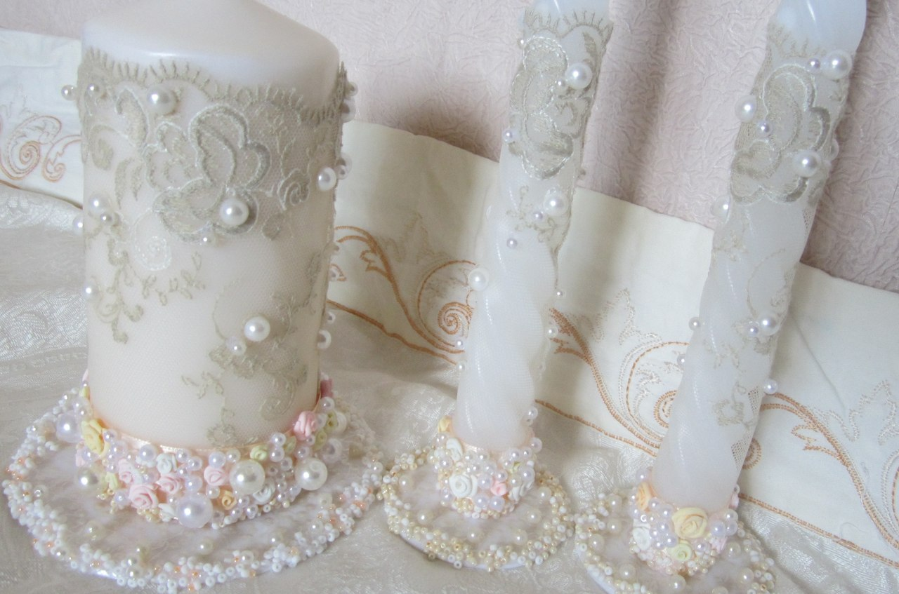 свечи на свадьбу оформление