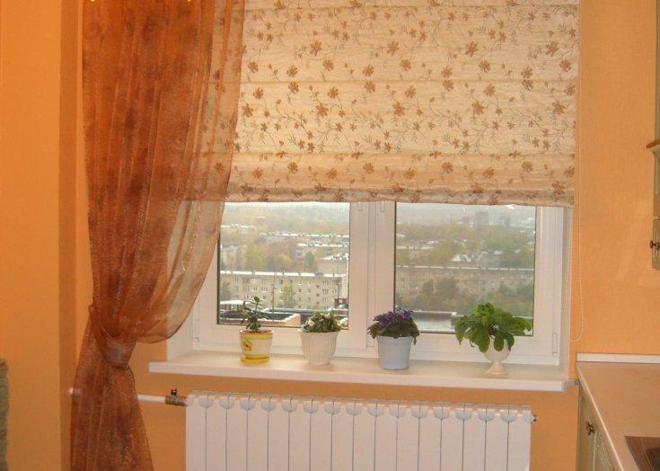 светонепроницаемые шторы на кухне
