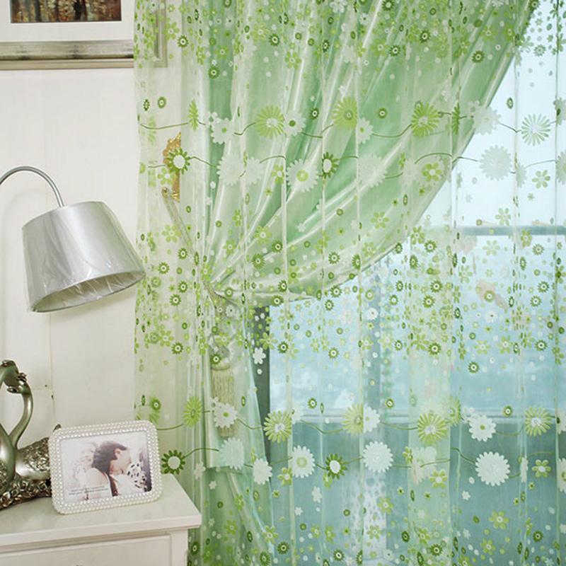 Полупрозрачная вуаль с растительным рисунком
