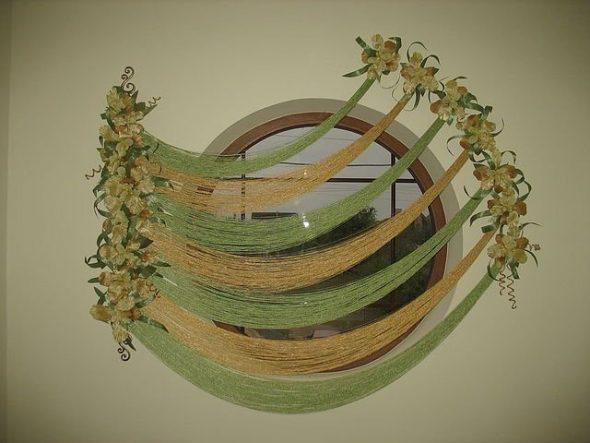 Оформление нитяными шторами