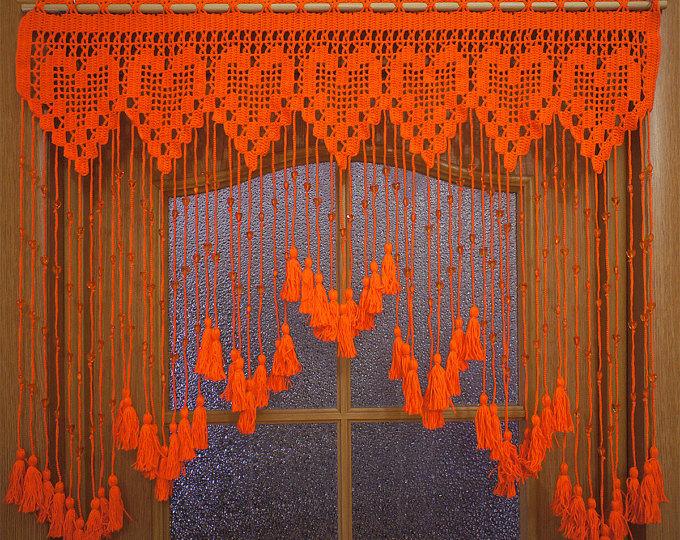 вязаные шторы как сделать занавески для кухни вязание крючком и