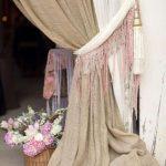 шторы из рогожки мешковины