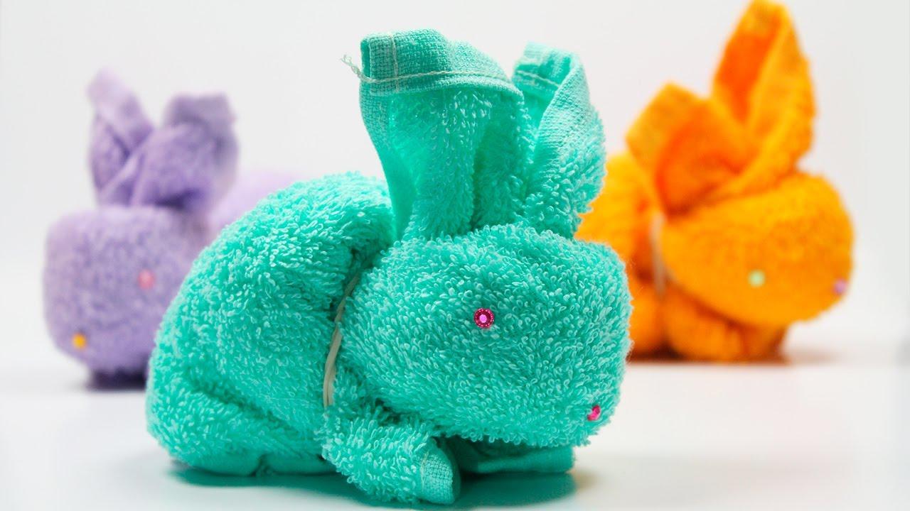 заяц из полотенец