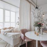 зонирование комнаты шторами дизайн интерьера идеи