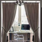 зонирование комнаты шторами фото дизайна